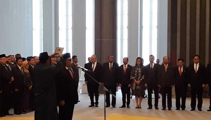Pengambilan Sumpah Jabatan Anggota BPK Agus Joko Pramono (Foto Credit Nusantaranews.co)