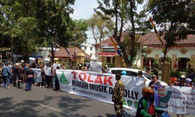 Rawan Timbul Prostitusi Terselubung, Ansor Tolak Berdirinya Rumah Musik Di Eks Lokalisi Dolly Dan Jarak. (FOTO: NUSANTARANEWS.CO/Setya)