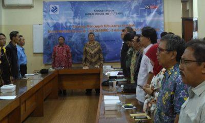 Seminar Terbatas Bertajuk Strategi Mencegah Dibukannya Kembali NAMRU-2 Amerika Serikat di Indonesia yang diadakan oleh Global Future Institute (GFI) Bekerjasama dengan Nusantaranews.co di Kawasan Kebayoran Baru (30/8/2018)