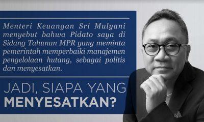zulkifli hasan, sri mulyani ketua mpr, menteri keuangan, hutang pemerintah, pokok hutang pemerintah, pembayaran hutang, nusantaranews
