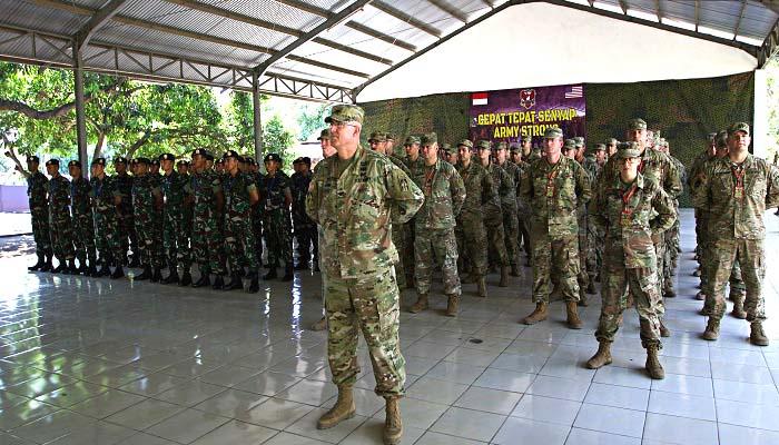us army pasific, garuda shield, latihan bersama, latihan garuda shield 2018, kostrad, divisi infanteri 2 kostrad, tentara hawaii, pasukan indo-pasific, nusantaranews