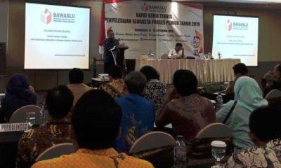 Bawaslu Jateng Adakan Rapat Kerja Teknis Penyelesaian Pemilu. (Foto Dok. Nusantaranews)