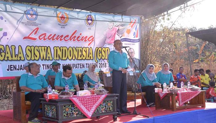 bupati sumenep, gala siswa indonesia, gsi sumenep, sepakbola sumenep, abuya busyro karim, kabupaten sumenep, olahraga sumenep, launching gsi sumenep, nusantaranews