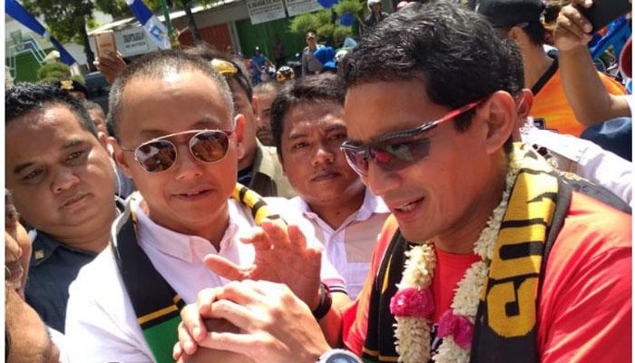 Cawapres nomor urut 2, Sandiaga Uno Disambut Penuh Antusias di Kota Sumenep (Foto Dok. Nusantaranews)