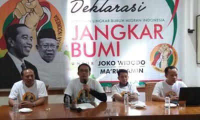 Deklarasi Dukungan Jangkar Bumi Kepada Jokowi-Ma'ruf Amin (Foto Ucok/Nusantaranews)