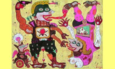 Dialog Terbalik Lukisan Heri Dono. (FOTO: Istimewa)