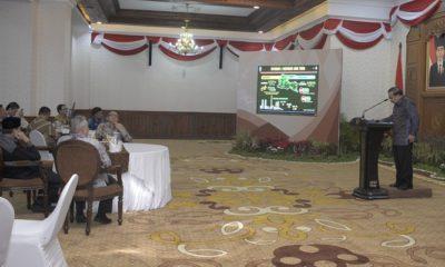 Gubernur Jatim Menerima Kunjungan Kerja Gubernur Banten di Gedung Grahadi Surabaya (FOTO: NUSANTARANEWS.CO/Setya)