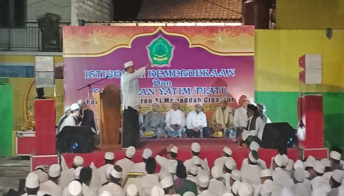 Istigosah dan Santunan Anak Yatim Piatu oleh Majelis Pecinta Habib (Foto Dok. Nusantaranews)