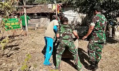 Jambanisasi Karya Bakti TNI Bagi Warga Kurang Mampu di Bojonegoro. (FOTO: NUSANTARANEWS.CO/Maspen0813)