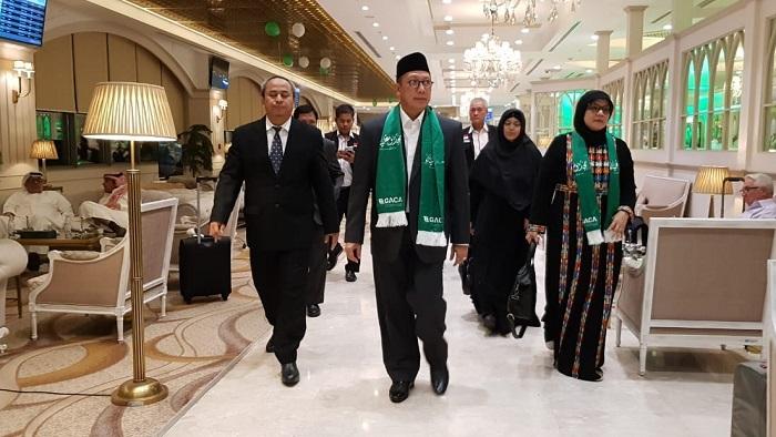 Menag Lukman Hakim Saifuddin melakukan kunjungan dinas ke Arab Saudi. Menag dijadwalkan akan melepas kloter terakhir jemaah haji Indonesia pada 26 September mendatang dari Madinah. (FOTO: Dok. Kemenag)