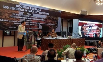 Ngobrol Bersama 300 Jenderal & Para Intelektual bertajuk Ekonomi Kerakyatan Sebagai Solusi Tatanan Ekonomi Indonesia dan Global, Sabtu 22 September 2019 di Jakarta (Foto Dok. Nusantaranews)
