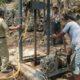 Pengeboran sumber air di enam titik di Desa Pragaan Daya. (FOTO: NUSANTARANEWS.CO/Syaikhol Amien )