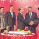 Prabowo Subianto bersalaman dengan Dubes Cina. (FOTO: Isitmewa/Antara)