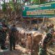 Sosialisasi Peternakan dan layanan kesehatan hewan ternak gratis oleh Satgas TMMD. (FOTO: NUSANTARANEWS.CO/Prasetya)