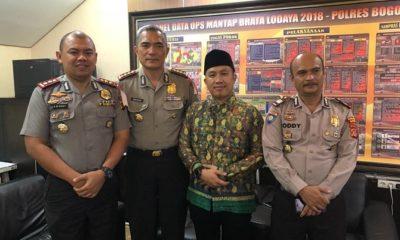 Audensi antara jajaran Pimpinan Cabang (PC) GP Ansor Kab. Bogor dengan Kepala Kepolisian Resort (Kapolres) Bogor di Mapolres Bogor, Cibinong. (FOTO: NUSANTARANEWS.CO/Tim)
