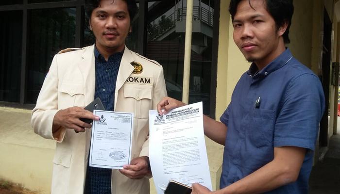 Bendaraha PP Pemuda Muhammadiyah Saat Mengantarkan Surat Untuk Kapolri Tito Karnavian di Mabes Polri (Foto Dok. Nusantaranews)