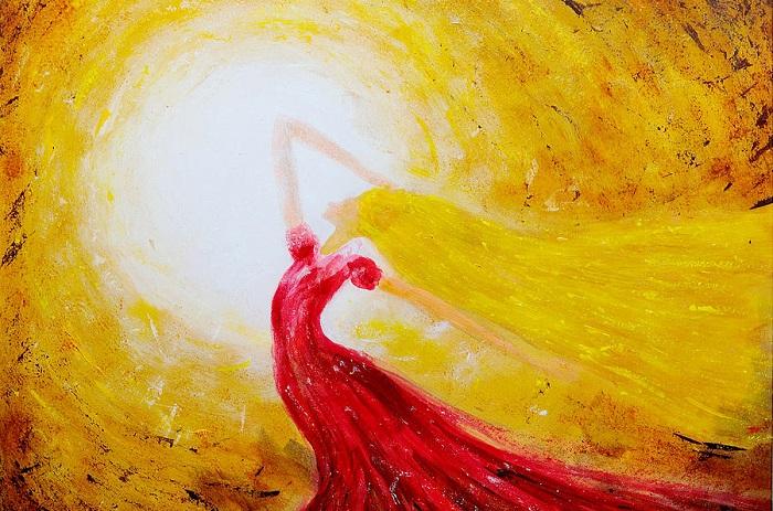 Doa Penantian Gadis Matahari. (Ilustrasi: Dancing In The Sun by Martin Capek/Fine Art America)