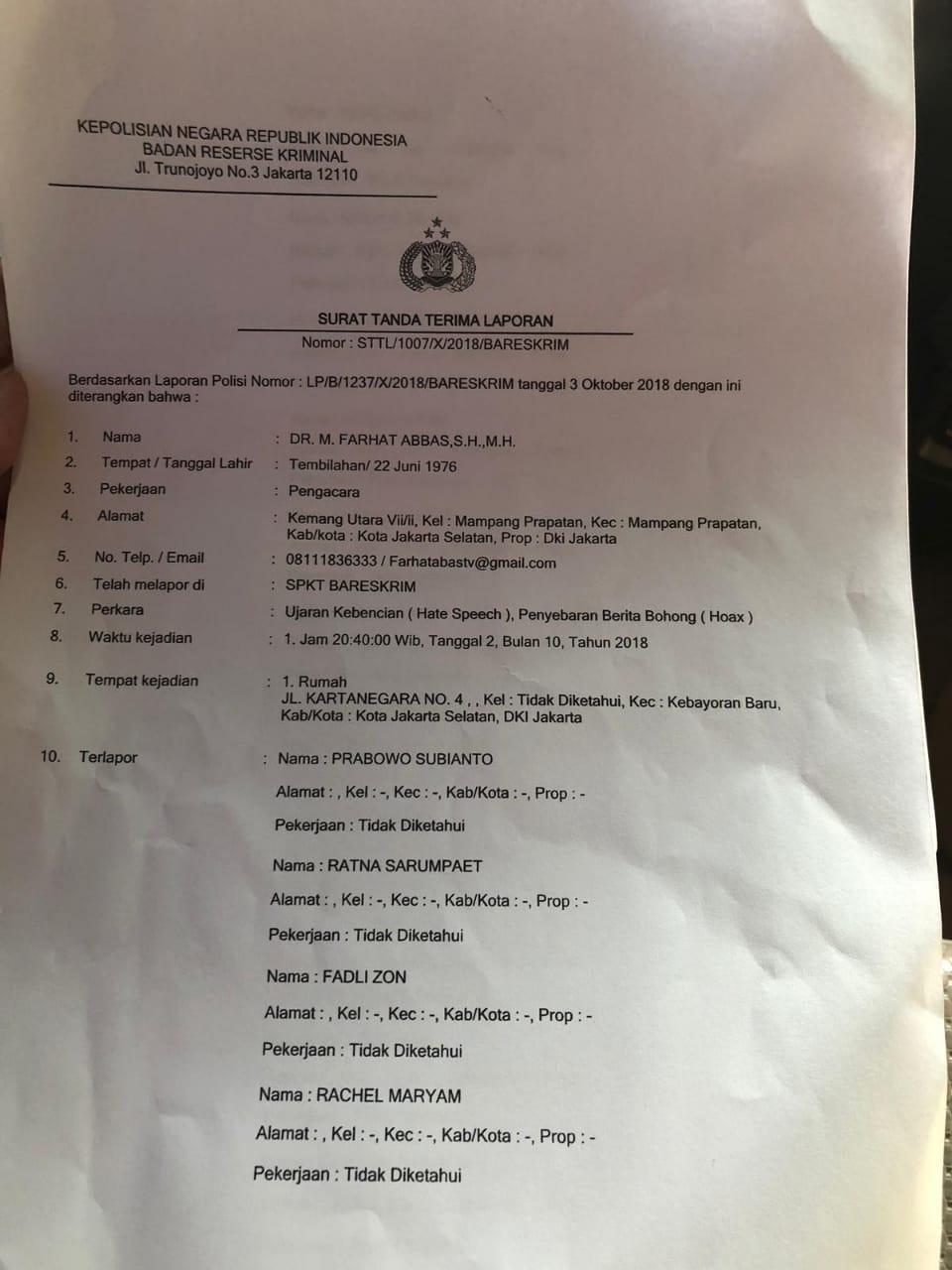 Draft laporan Farhat Abbas