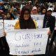 Ilustrasi Para Guru Honorer aksi protes kebijakan pemerintah. (FOTO: Istimewa)