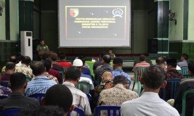 Kodim 0803/Madiun menggelar kegiatan Pembinaan Peta Jarak Jaring Teritorial Tahun 2018 bertempat di Aula Makodim 0803/Madiun Jl.Pahlawan No.25 Kota Madiun. (FOTO: NUSANTARANEWS.CO/mc0803)