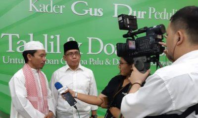 Konsorsium Kader Gus Dur Gelar Doa Bersama untuk Korban Gempa. (FOTO: NUSANTARANEWS.CO/Setya)