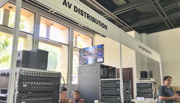Selain itu terdapat juga press center yang siap menampung lebih dari 1200 jurnalis dalam dan luar negeri. (Foto: @am2018bali)