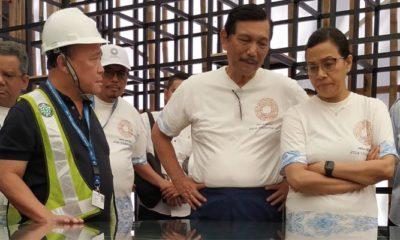 Meninjau kesiapan pertemuan IMF-World Bank 2018, Menteri Luhut Binsar Pandjaitan dan Menteri Sri Mulyani melakukan kunjungan ke berberapa lokasi kegiatan. (Foto: @am2018bali)