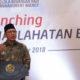 Menag Lukman Hakim saifuddin saat melaunching BPKH 2018, di Auditorium HM Rasjidi, Kantor Kementerian Agama. (Foto: fkusuma/kemenag)