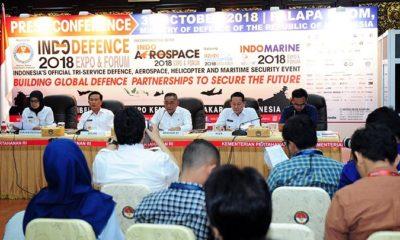 Menteri Pertahanan Ryamizard Ryacudu saat Press Conference untuk penyelenggaraan Pameran Industri Pertahanan 2018. (FOTO: Dok. Kemhan)