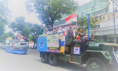 Pawai Ta'aruf MTQ ke 27 melintas di jalanan Kota Medan. (FOTO: danil/kemenag