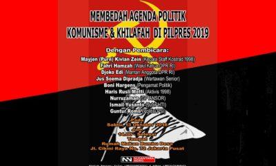 Diskusi Publik 13 Oktober: Menelisik Agenda Politik Komunisme dan Khilafah di Pilpres 2019. (FOTO: NUSANTARANEWS.CO)