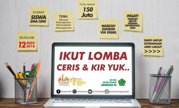Poster Lomba Cerita Islam Kemenag. (FOTO: Istimewa)
