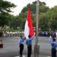 Upacara Peringatan Hari Sumpah Pemuda Ke-90 Kementerian Pertahanan di kantor Kemhan, Jakarta, Senin, 29 Oktober 2018. (FOTO: Dok. Kemhan)
