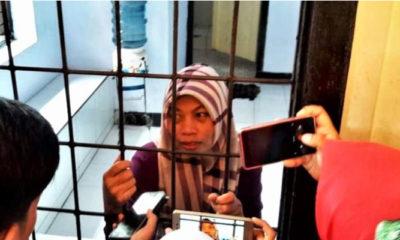 Baiq Nuril di Balik Jeruji Besi (Foto: Tim kuasa hukum)
