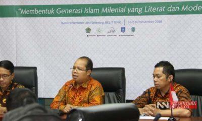 Direktur Pendidikan Agama Islam (PAI) Rohmat Mulyana Sapdi Saat Gelar Jumpa Pers Perkemahan Rohis (Foto Dok. Nusantaranews)