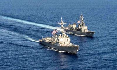 Dua kapal penghancur AS lintasi Selat Taiwan untuk ketiga kalinya. (Ilustrasi)