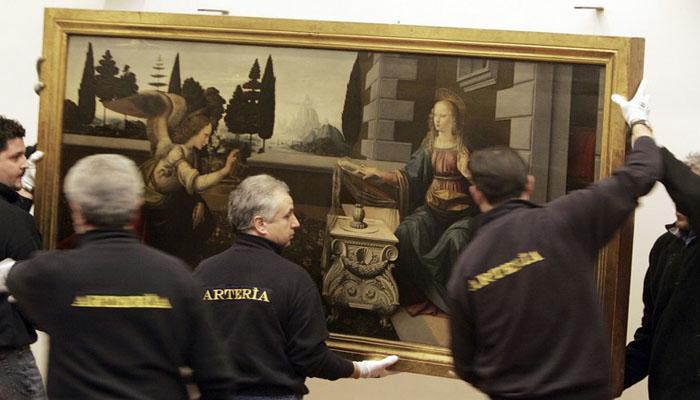Lukisan Leonardo da Vinci. (FOTO: REUTERS / Lucy Nicholson)