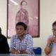 Dari Kanan ke kiri: Maman S Mahayana (Ketua Yayasan Hari Puisi/YHP), Sihar Ramsees Simatupang dan Asrizal Nur (Ketua Panitia HPI). (FOTO: NUSANTARANEWS.CO/Achmad S.)