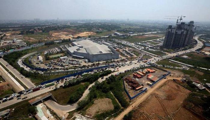 Mega Proyek Meikarta nampak dari Udara. (Foto Dok. Sindonews)
