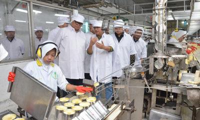 Menteri Perindustrian Airlangga Hartarto saat mengunjungi PT. Great Giant Pineapple di Lampung Tengah. (FOTO: NUSANTARANEWS.CO/Dok. Kemenperin)