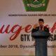 Menteri Agama Lukman Hakim Saifuddin pada puncak peringatan Hari Guru & Anugerah Guru dan Tenaga Kependidikan Madrasah Berprestasi 2018, di Surabaya, Minggu (25/11). (FOTO: Dok. Kemenag)