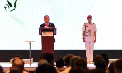 Menteri Pertahanan RI Ryamizard Ryacudu pada acara pembukaan Pameran Industri Pertahanan di JIExpo Kemayoran, Jakarta, Rabu (7/11/2018). (FOTO: Dok. Kemhan)