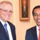PM Australia Scott Morrison bersama Presiden Jokowi (Foto AFP/Sonny Tumbelaka)