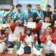 Atlet Perguruan Silat Nasional (PSN) Perisai Putih Pusat Surabaya raih prestasi dalam kompetisi pencak silat ASAD Championship 2018. (Foto: NUSANTARANEWS.CO/Setya N)