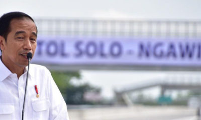 Presiden Joko Widodo Resmikan ruas Sragen-Ngawi. (FOTO: NUSANTARANEWS.CO/KemenPUPR)
