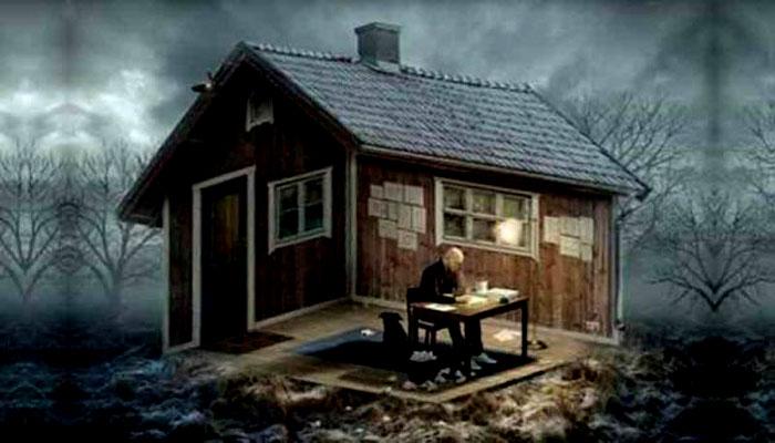 Rumah Karyadi- Ilustrasi Rumah Seorang Seniman. (Istimewa)