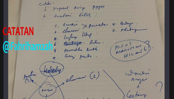 Catatan Fahri Hamzah untuk Visi Misi Capres 2019. (FOTO: Dok. @Fahrihamzah)