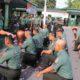 Dandim 0808/Blitar Letkol Inf Kris Bianto pimpin acara tradisi Korp Raport penerimaan warga baru di satuan Kodim 0808/Blitar. (FOTO: NUSANTARANEWS.CO)
