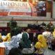 """Dandim 0824 Letkol Inf Arif Munawar pada acara Simposium bertajuk """"Revitalisasi Nilai Kebangsaan Dalam Pancasila"""" oleh Badan Eksekutif Mahasiswa BEM) Universita Negeri jember (Unej). (FOTO: NUSANTARANEWS.CO/Sis24)"""
