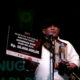 Dheni Kurnia pemilik buku puisi Bunatin yang meraih pemenang utama seyembara buku puisi hpi 2018. (FOTO: NUSANTARANEWS.CO)